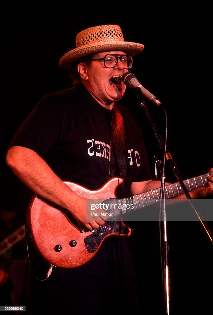 Nick Gravenites performing at the Petrillo Bandshell in Chicago Illinois, June 5, 1987.