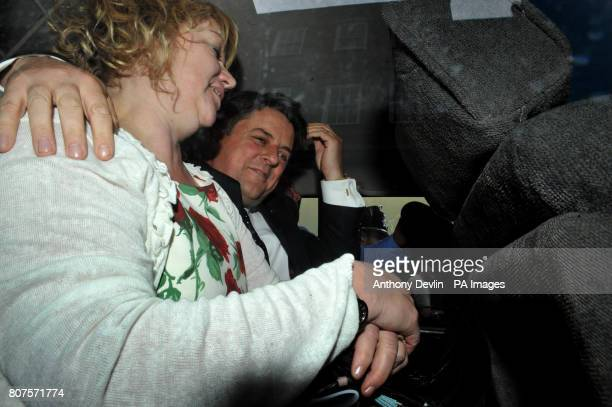 Nick Griffin and wife Jackie leaves the Civic Centre in Stoke after the British National Party launched their 2010 General Election manifesto in...