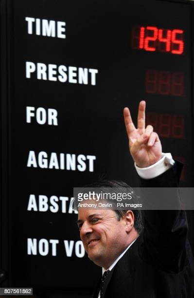 Nick Griffin arrives at the Civic Centre in Stoke as the British National Party launch their 2010 General Election manifesto in StokeOnTrent