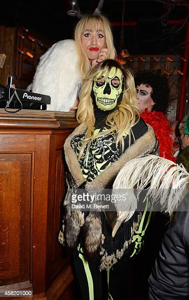 Nick Grimshaw and Fat Tony attend 'Death Of A Geisha' hosted by Fran Cutler and Cafe KaiZen with Grey Goose on October 31 2014 in London England