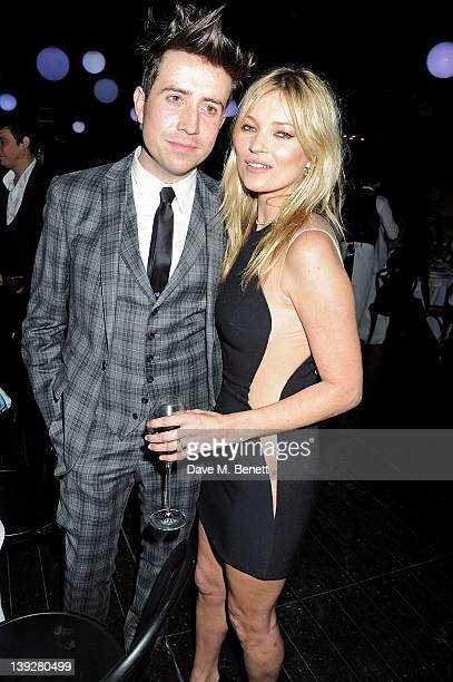 Nick Grimshaw and Kate Moss attend a cocktail reception at the Stella McCartney Special Presentation during London Fashion Week Autumn/Winter 2012 a...