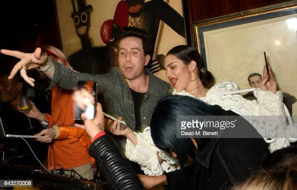 Nick Grimshaw and Kendall Jenner at the LOVE and Burberry London Fashion Week Party at Annabel's celebrating Katie Grand and Kendall Jenner's...