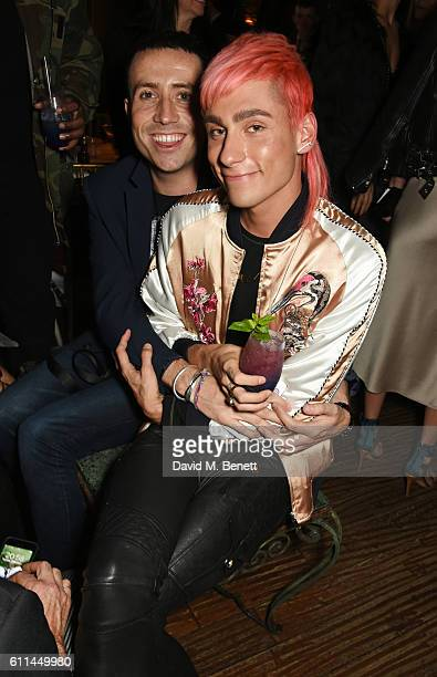 Nick Grimshaw and Kyle De'Volle attend the JF London x Kyle De'Volle VIP dinner at Beach Blanket Babylon on September 29 2016 in London England