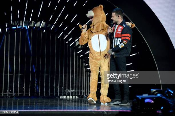 Nick Grimshaw and Liam Payne speak on stage at the BBC Radio 1 Teen Awards 2017 at Wembley Arena on October 22 2017 in London England