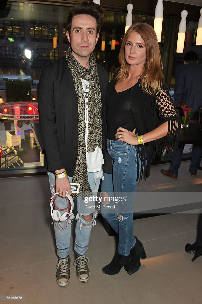 Nick Grimshaw and Millie Mackintosh attend the launch of Broadgate Circle London's new dining hub on June 9 2015 in London England