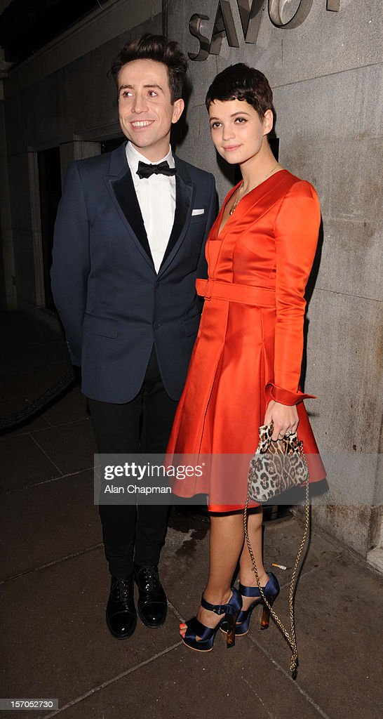 Nick Grimshaw and Pixie Geldof sighting at the British Fashion Awards on November 27, 2012 in London, England.