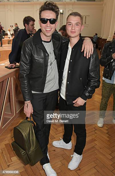 Nick Grimshaw and Rafferty Law attend the COACH Men's Spring 2016 Presentation at The Lindley Hall on June 13 2015 in London England