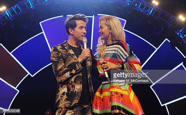 Nick Grimshaw and Rita Ora attend the Radio One Teen Awards at Wembley Arena on October 19 2014 in London England