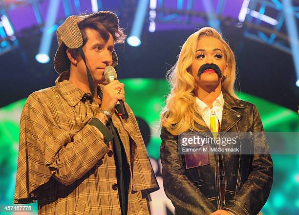 Nick Grimshaw and Rita Ora present the Radio One Teen Awards at Wembley Arena on October 19 2014 in London England