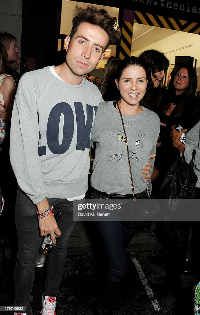 Nick Grimshaw and Sadie Frost attend the launch of 'Black Market Clash' an exhibition of personal memorabilia and items curated by original members...