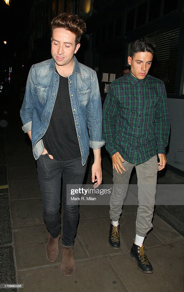 Nick Grimshaw at the Groucho club on June 20, 2013 in London, England.