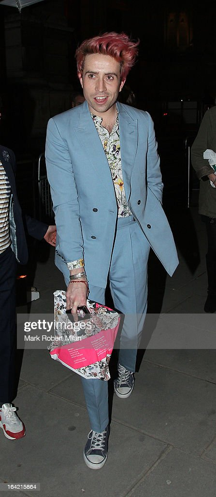Nick Grimshaw at the private view of 'David Bowie Is' at Victoria & Albert Museum on March 20, 2013 in London, England.