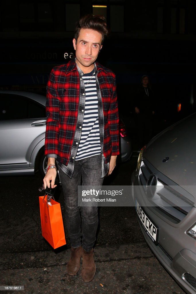 <a gi-track='captionPersonalityLinkClicked' href=/galleries/search?phrase=Nick+Grimshaw&family=editorial&specificpeople=4666727 ng-click='$event.stopPropagation()'>Nick Grimshaw</a> attending Alexa Chung's 30th birthday party at the London Edition Hotel on November 9, 2013 in London, England.