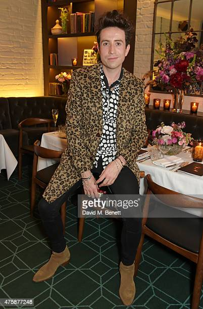 Nick Grimshaw attends a private dinner celebrating the launch of the Nick Grimshaw for TOPMAN collection at Odette's Primrose Hill on June 4 2015 in...