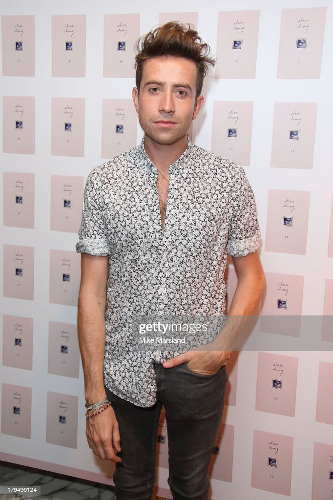 <a gi-track='captionPersonalityLinkClicked' href=/galleries/search?phrase=Nick+Grimshaw&family=editorial&specificpeople=4666727 ng-click='$event.stopPropagation()'>Nick Grimshaw</a> attends as Alexa Chung celebrates the launch of her first book 'It' at Liberty on September 4, 2013 in London, England.