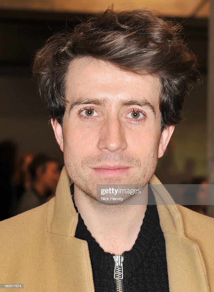 <a gi-track='captionPersonalityLinkClicked' href=/galleries/search?phrase=Nick+Grimshaw&family=editorial&specificpeople=4666727 ng-click='$event.stopPropagation()'>Nick Grimshaw</a> attends the Fashion East show during London Fashion Week Fall/Winter 2013/14 at TopShop Show Space on February 18, 2013 in London, England.