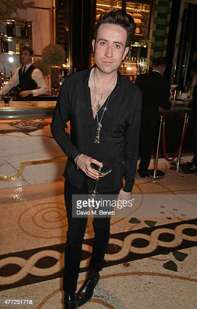 Nick Grimshaw attends the GQ London Collections Men closing party hosted by Dylan Jones at Massimo Restaurant Oyster Bar in Corinthia London on June...