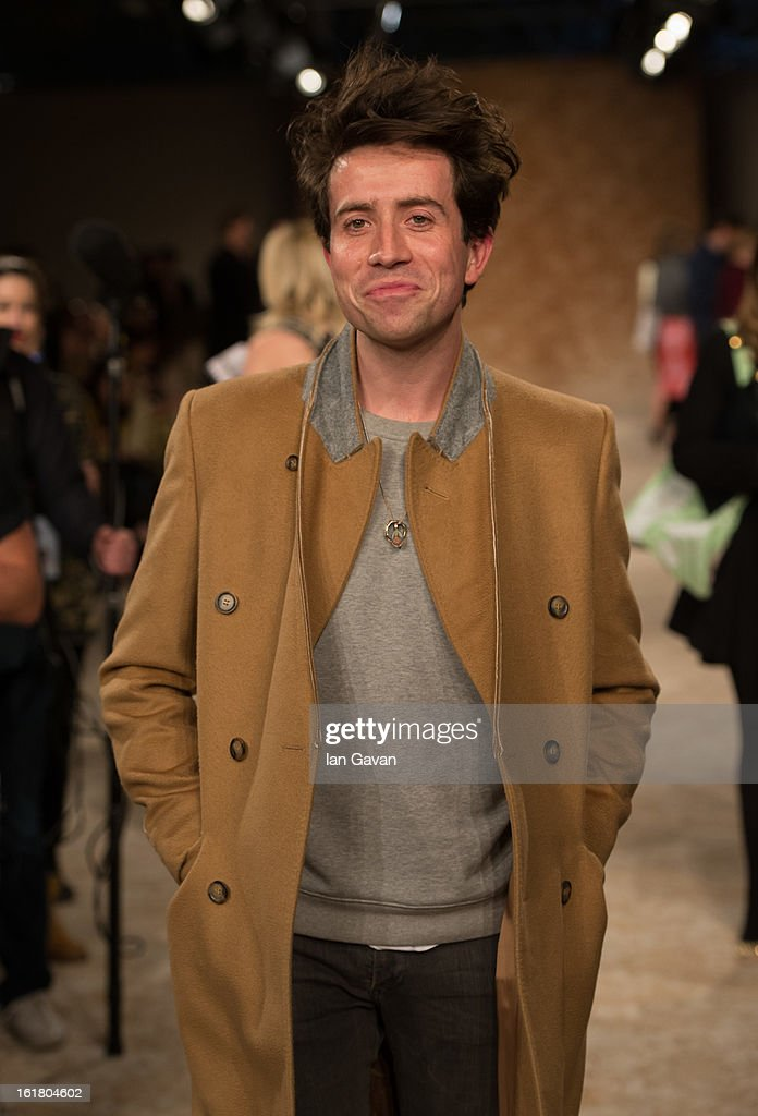 <a gi-track='captionPersonalityLinkClicked' href=/galleries/search?phrase=Nick+Grimshaw&family=editorial&specificpeople=4666727 ng-click='$event.stopPropagation()'>Nick Grimshaw</a> attends the House of Holland show during London Fashion Week Fall/Winter 2013/14 at Brewer Street Car Park on February 16, 2013 in London, England.