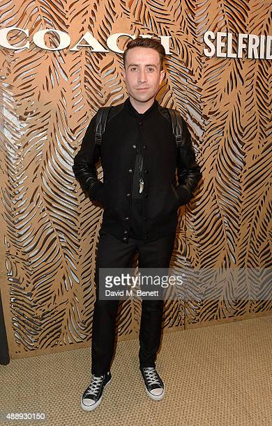 Nick Grimshaw attends the launch of Coach at Selfridges hosted by Stuart Vevers at Selfridges on September 18 2015 in London England
