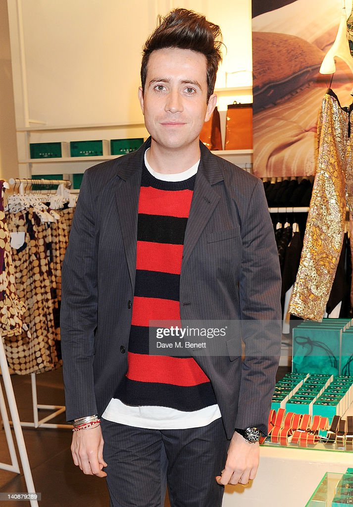 <a gi-track='captionPersonalityLinkClicked' href=/galleries/search?phrase=Nick+Grimshaw&family=editorial&specificpeople=4666727 ng-click='$event.stopPropagation()'>Nick Grimshaw</a> attends the launch of Italian fashion house Marni's collection for H&M at H&M Regent Street on March 7, 2012 in London, England.