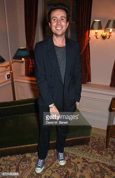 Nick Grimshaw attends the NetaPorter Mr Porter preopening dinner cohosted by Jenny Dickinson and Jeremy Langmead in The Saloon at The Ned London on...