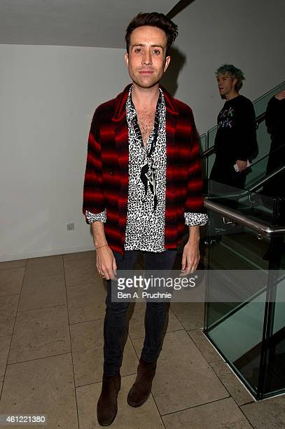 Nick Grimshaw attends the opening event at the London Collections Men AW15 at The Hospital Club on January 9 2015 in London England