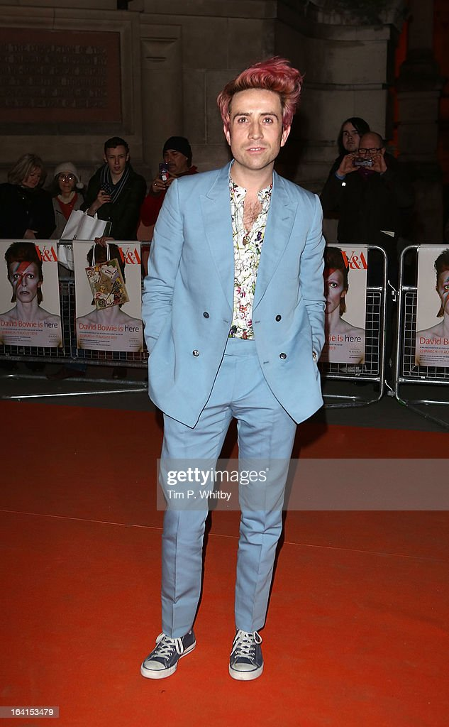 Nick Grimshaw attends the private view of 'David Bowie Is' at Victoria Albert Museum on March 20 2013 in London England