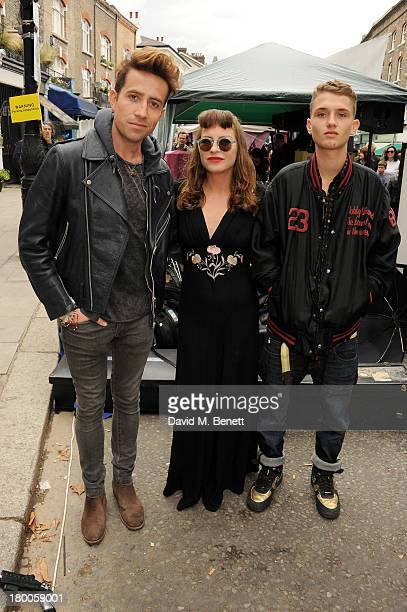 Nick Grimshaw Collette Cooper and Rafferty Law attend the Primrose Hill Festival on September 8 2013 in London England