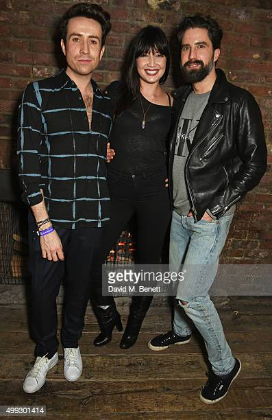 Nick Grimshaw Daisy Lowe and Jack Guinness attend the Refinery 29 UK launch event at Shoreditch House on November 30 2015 in London England