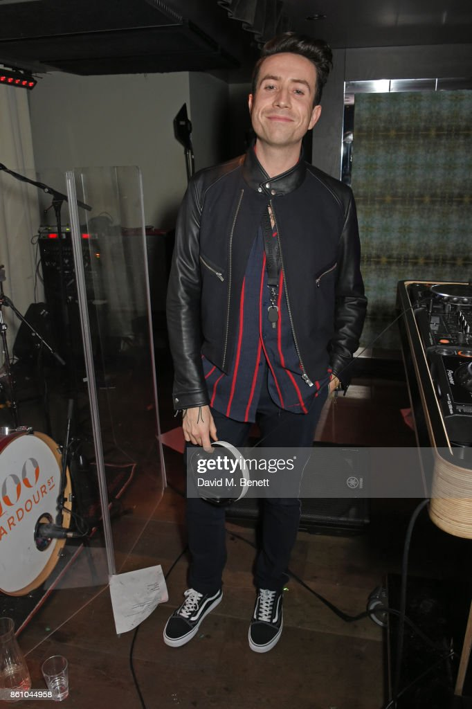 Nick Grimshaw DJs at the launch of Soho After Hours sponsored by CIROC at 100 Wardour Street on October 13, 2017 in London, England.