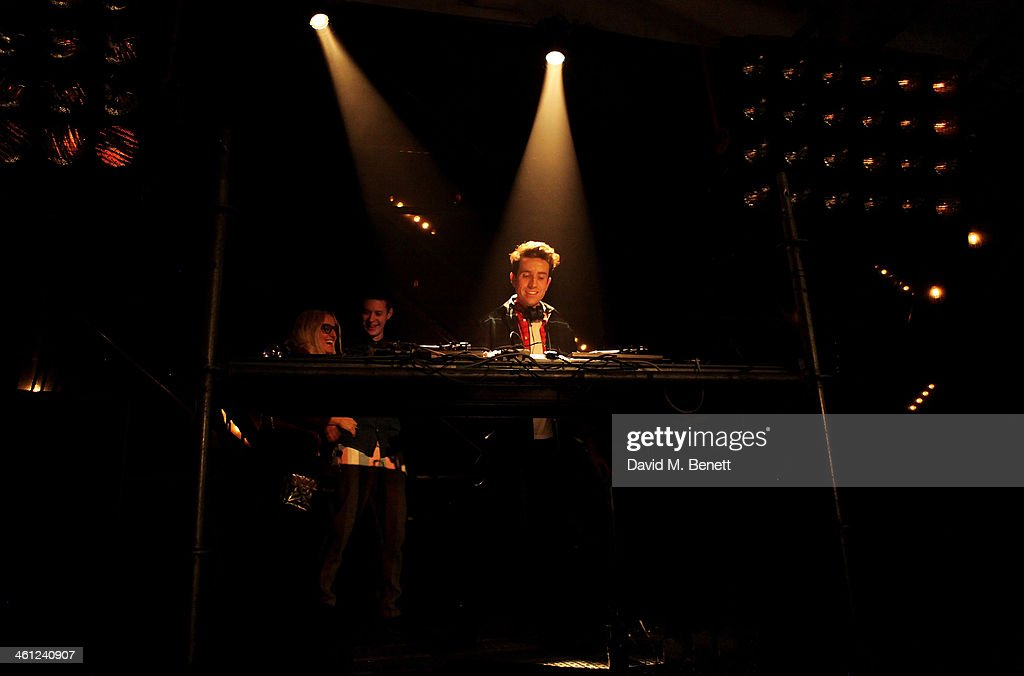 Nick Grimshaw DJ's at the Superdry AW14 after party as part of London Collections Men at The Old Sorting Office on January 7 2014 in London England