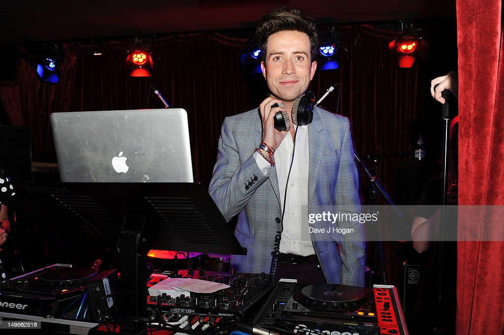 Nick Grimshaw DJ's at the UK Creatives Drinks Reception celebrating media, arts, sport and creativity in the UK at Dover Arts Club on July 30, 2012 in London, England.