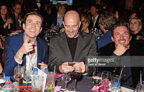 Nick Grimshaw Jake Chapman and Dave Gardner attend The Hoping Foundation's 'Starry Starry Night' Benefit Evening for Palestinian Refugee Children at...