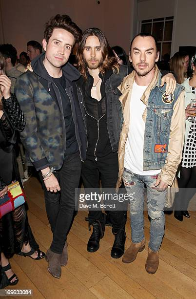 Nick Grimshaw Jared Leto and Shannon Leto attend the Esquire Summer Party in association with Stella Artois at Somerset House on May 29 2013 in...