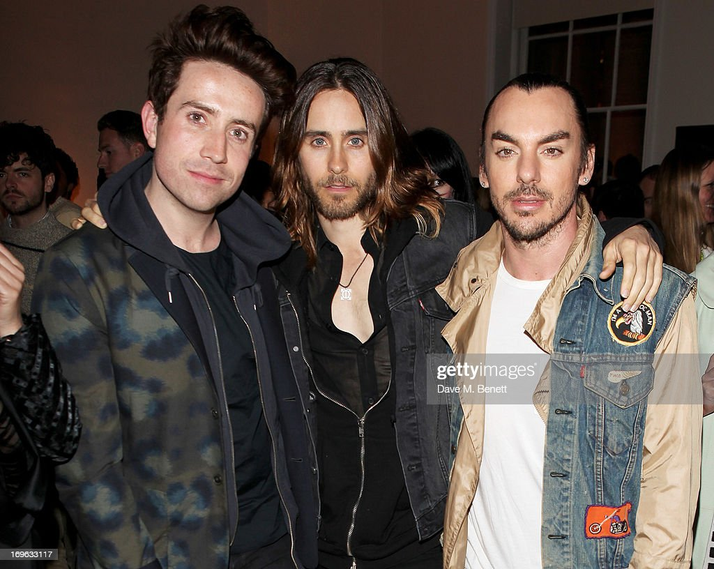 Nick Grimshaw, Jared Leto and Shannon Leto attend the Esquire Summer Party in association with Stella Artois at Somerset House on May 29, 2013 in London, England.