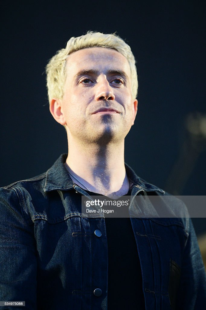 <a gi-track='captionPersonalityLinkClicked' href=/galleries/search?phrase=Nick+Grimshaw&family=editorial&specificpeople=4666727 ng-click='$event.stopPropagation()'>Nick Grimshaw</a> on stage during day 1 of BBC Radio 1's Big Weekend at Powderham Castle on May 28, 2016 in Exeter, England.