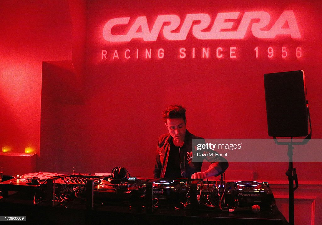 <a gi-track='captionPersonalityLinkClicked' href=/galleries/search?phrase=Nick+Grimshaw&family=editorial&specificpeople=4666727 ng-click='$event.stopPropagation()'>Nick Grimshaw</a> performing at the Carrera Ignition Night at The House of St Barnabas on June 20, 2013 in London, England.
