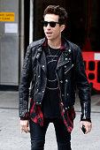 Nick Grimshaw seen leaving the BBC Radio 1 Studios on July 28 2015 in London England