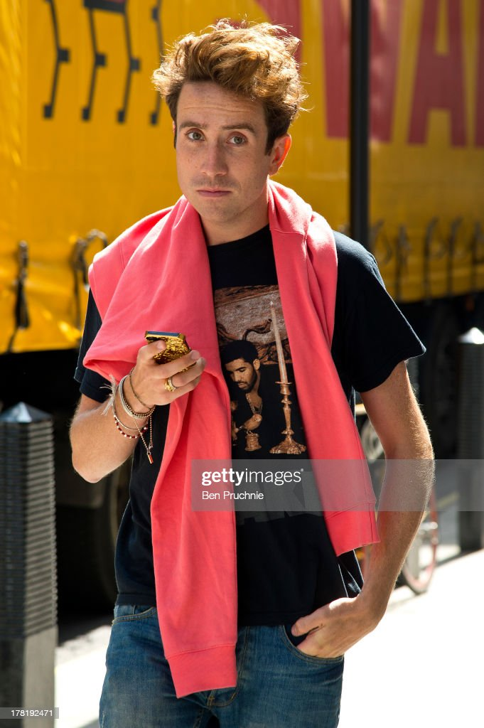 <a gi-track='captionPersonalityLinkClicked' href=/galleries/search?phrase=Nick+Grimshaw&family=editorial&specificpeople=4666727 ng-click='$event.stopPropagation()'>Nick Grimshaw</a> sighted at BBC Radio Studios in on August 27, 2013 in London, England.