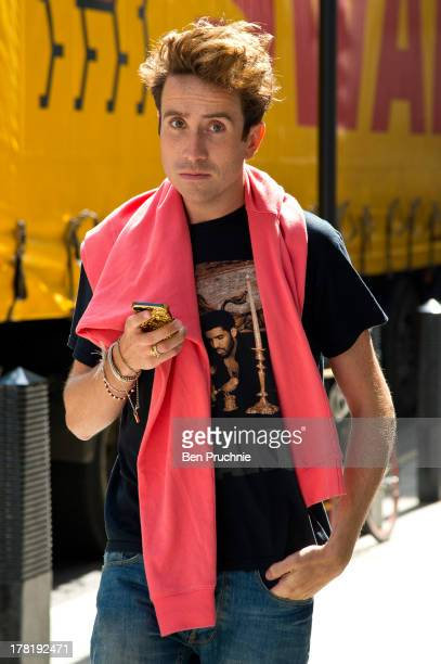 Nick Grimshaw sighted at BBC Radio Studios in on August 27 2013 in London England