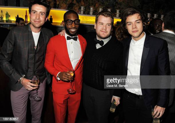 Nick Grimshaw Tinie Tempah James Corden and Harry Styles attend a private dinner hosted by Sir Paul Smith Tinie Tempah and GQ editor Dylan Jones to...