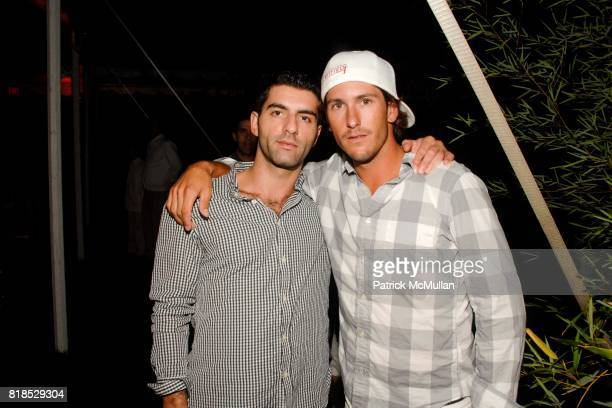 Nick Haines and Nic Roldan attend Third Annual Best Buddies Hamptons Gala at Private Residence on August 21 2010 in Bridgehampton NY