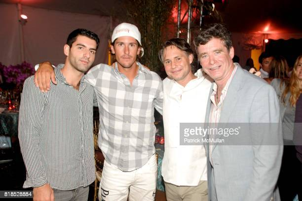 Nick Haines Nic Roldan Jason Binn and Jay McInerney attend Third Annual Best Buddies Hamptons Gala at Private Residence on August 21 2010 in...