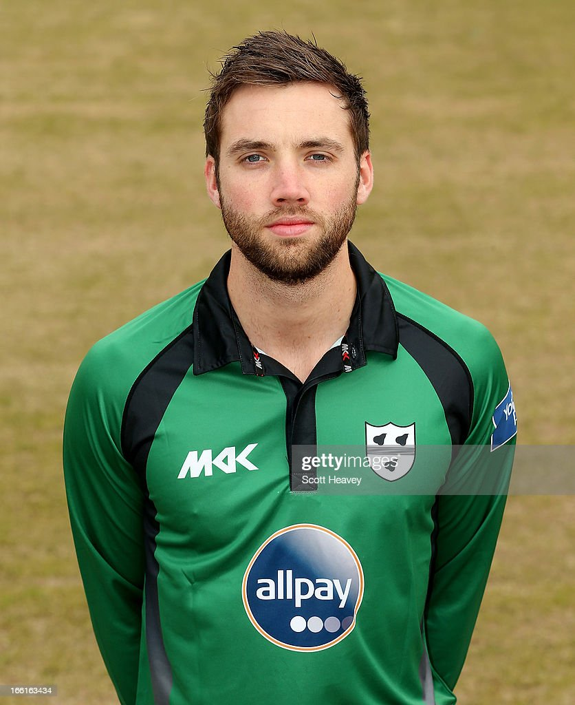 Nick Harrison during a Photocall for Worcestershire County Cricket Club on April 9, 2013 in Worcester, England.