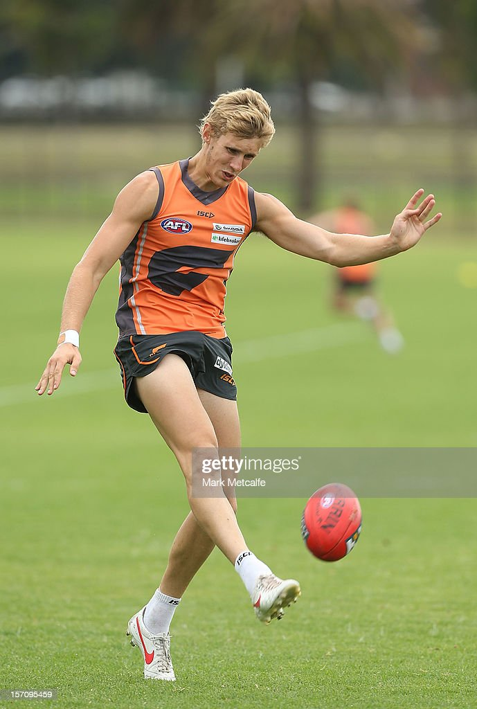 Nick Haynes in action during a Greater Western Sydney Giants AFL pre-season training session at Lakeside Oval on November 28, 2012 in Sydney, Australia.