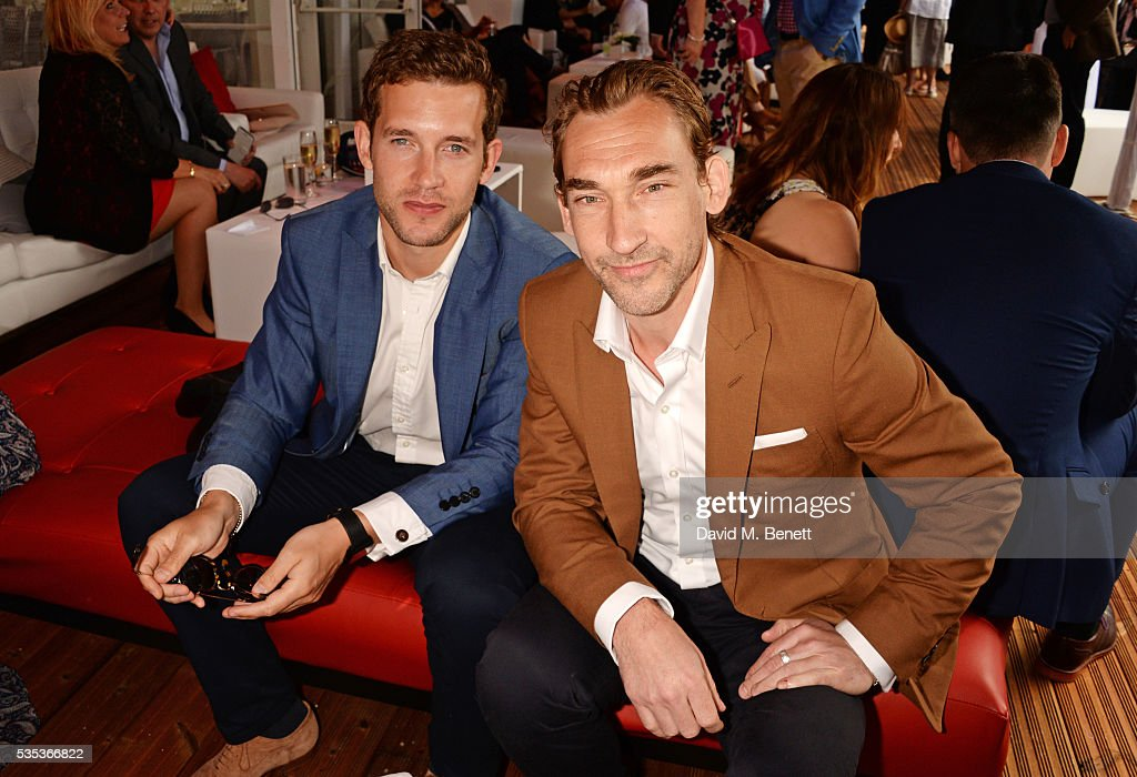 Nick Hendrix (L) and Joseph Mawle attend day two of the Audi Polo Challenge at Coworth Park on May 29, 2016 in London, England.