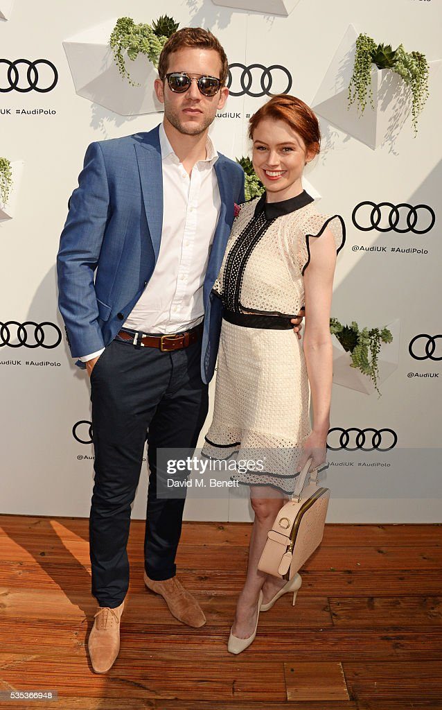 Nick Hendrix (L) and Sarah Winter attend day two of the Audi Polo Challenge at Coworth Park on May 29, 2016 in London, England.