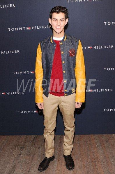 8bc1db4e0c46bf Nick Hissom poses backstage at the Tommy Hilfiger Presents Fall 2012 ...