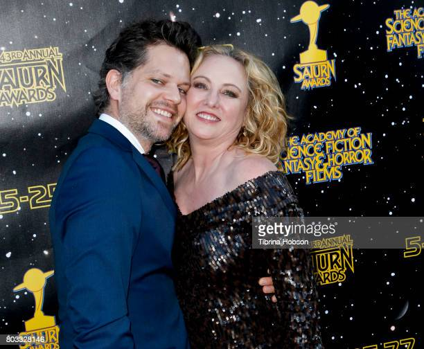 Nick Holmes and Virginia Madsen attend the 43rd Annual Saturn Awards at The Castaway on June 28 2017 in Burbank California