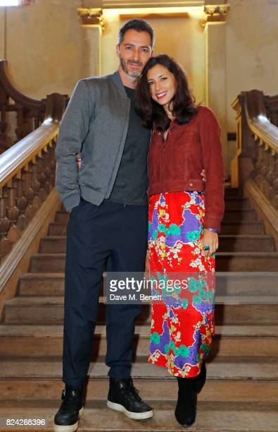 Nick Hopper and Jasmine Hemsley attend Krug Festival 'Into The Wild' at The Grange Hampshire on July 29 2017 in Northington United Kingdom